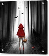 Little Red Riding Hood And The Wolf Acrylic Print