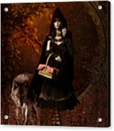 Little Red Riding Hood Gothic Acrylic Print