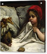 Little Red Riding Hood Acrylic Print by Gustave Dore