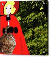 Little Red Riding Hood In The Forest Acrylic Print