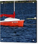 Little Red Sailboat Acrylic Print