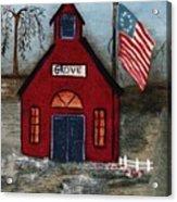 Little Red Schoolhouse Acrylic Print