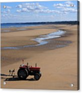 Little Red Tractor Acrylic Print