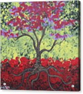 Little Red Tree Acrylic Print