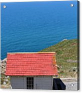 Little Shack At The Point Reyes Lighthouse In California . 7d16020 Acrylic Print by Wingsdomain Art and Photography