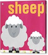 Little Sheep Acrylic Print by Linda Woods