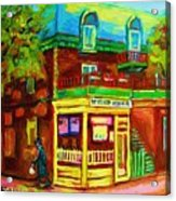 Little Shop On The Corner Acrylic Print