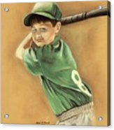 Little Slugger Acrylic Print by Robin Martin Parrish