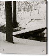 Little Winter Crossing Acrylic Print
