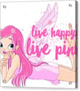Live Happy Test Acrylic Print