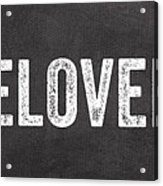 Live Love Bake Acrylic Print
