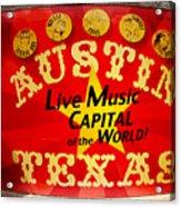 Live Music Mural Of Austin Acrylic Print