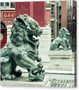 Liverpool Chinatown - Chinese Lion D Acrylic Print