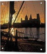 Liverpool, England View From Albert Dock Acrylic Print