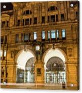 Liverpool Exchange Railway Station By Night Acrylic Print