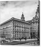 Liverpool Royal Liver And Cunard Buildings Acrylic Print