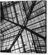 Liverpool Street Station Glass Ceiling Abstract Acrylic Print