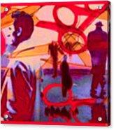 Living Cutouts Drifting Into The Spirit World/we Are All Born Asleep Acrylic Print