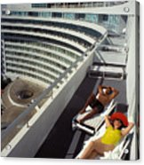 Living High At The Fontainebleau Acrylic Print
