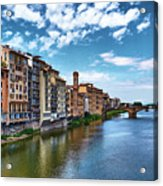 Living Next To The Arno River Acrylic Print