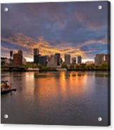 Living On The Willamette River Acrylic Print