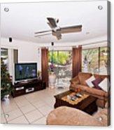 Living Room At Christmas Acrylic Print