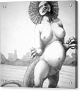 Lizard Girl Acrylic Print