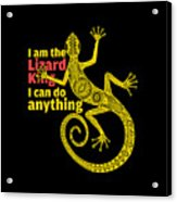 Lizard King Acrylic Print