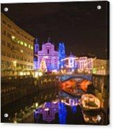 Ljubljana At Christmas Acrylic Print