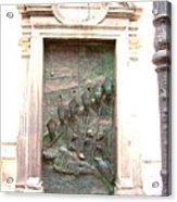 Ljubljana Bronze Church Door Acrylic Print
