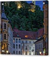Ljubljana Night Scene - Slovenia Acrylic Print