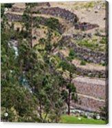 llactapata Site and Urubamba River Acrylic Print