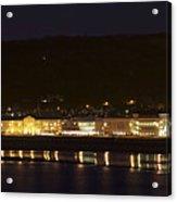 Llandudno Promenade At Night. Acrylic Print