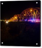 Llano Bridge At Night Acrylic Print