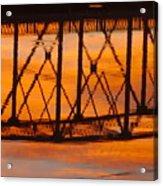Llano Bridge Reflection Acrylic Print