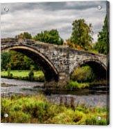 Llanrwst Bridge Panorama Acrylic Print