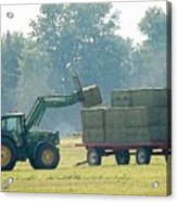 Loading Hay At Dusk Acrylic Print