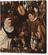 Loarte, Alejandro De Madrid , 1590 - Toledo, 1626 The Poultry Vendor 1626. Acrylic Print