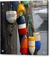 Lobster Buoy At Water Taxi Pier Acrylic Print