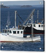 Lobster Fishing Boats Acrylic Print