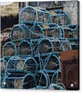 Lobster Pots Acrylic Print