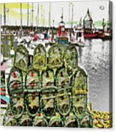 Lobster Pots Kilmore Quay, Wexford, Ireland, Poster Effect 1a Acrylic Print
