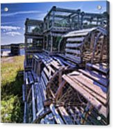 Lobster Traps In The Sun Acrylic Print