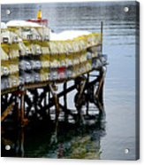 Lobster Traps In Winter Acrylic Print