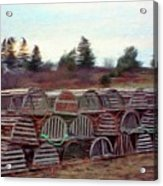 Lobster Traps Acrylic Print by Jeff Kolker