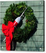 Lobsterman's Christmas Wreath Acrylic Print