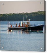 Lobstermen At Work  Acrylic Print