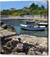 Local Boats In Harbour Acrylic Print