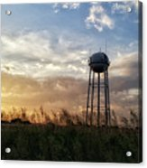 Local Water Tower  Acrylic Print