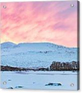 Loch Ba Panoramic Sunrise Acrylic Print